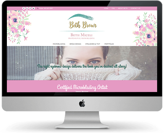 Brow Designer Web Design